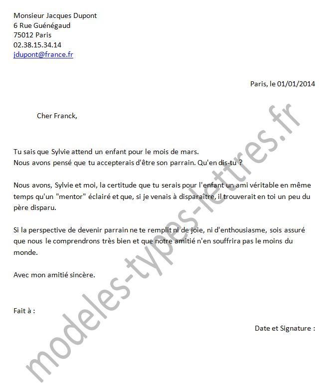 modele lettre pour bapteme Modèles de lettre à un ami d'être le parrain lors d'un Baptême modele lettre pour bapteme
