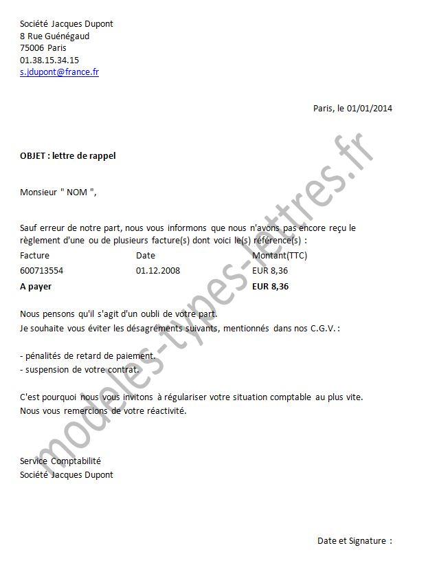 lettre de relance fournisseur livraison